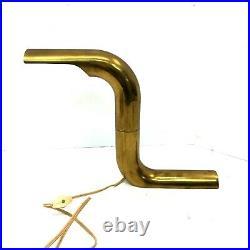 Vintage Mid-Century Modern Brass Rotating Table Lamp bed side desk mcm mod