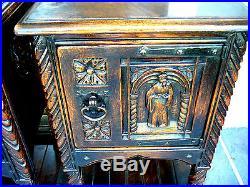 Vintage Renaissance Bed Side Tables