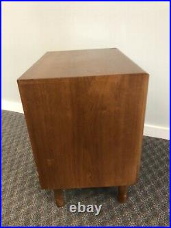 Vintage SIDE TABLE Mid Century Modern DREXEL PARALLEL nightstand bedside stand