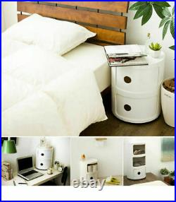 White Trend Bedside Side Table Shelf Modern Chest Of Drawers Nightstand Bedroom