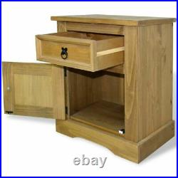 Wood End Side Bedside Table Nightstand Organizer with Drawer Storage Cabinet