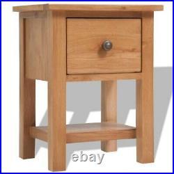 Wood Nightstand Solid Oak End Table Bedroom Storage Side Bedside