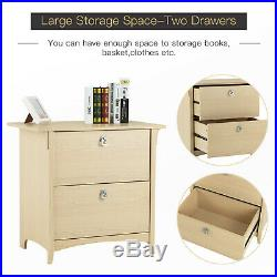 Wooden End Side Bedside Table Nightstand File Cabinet Home Office Furniture