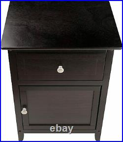 Wooden Night Stand End Table Wood Accent Bed Side Lamp Living Room Home Cabinet